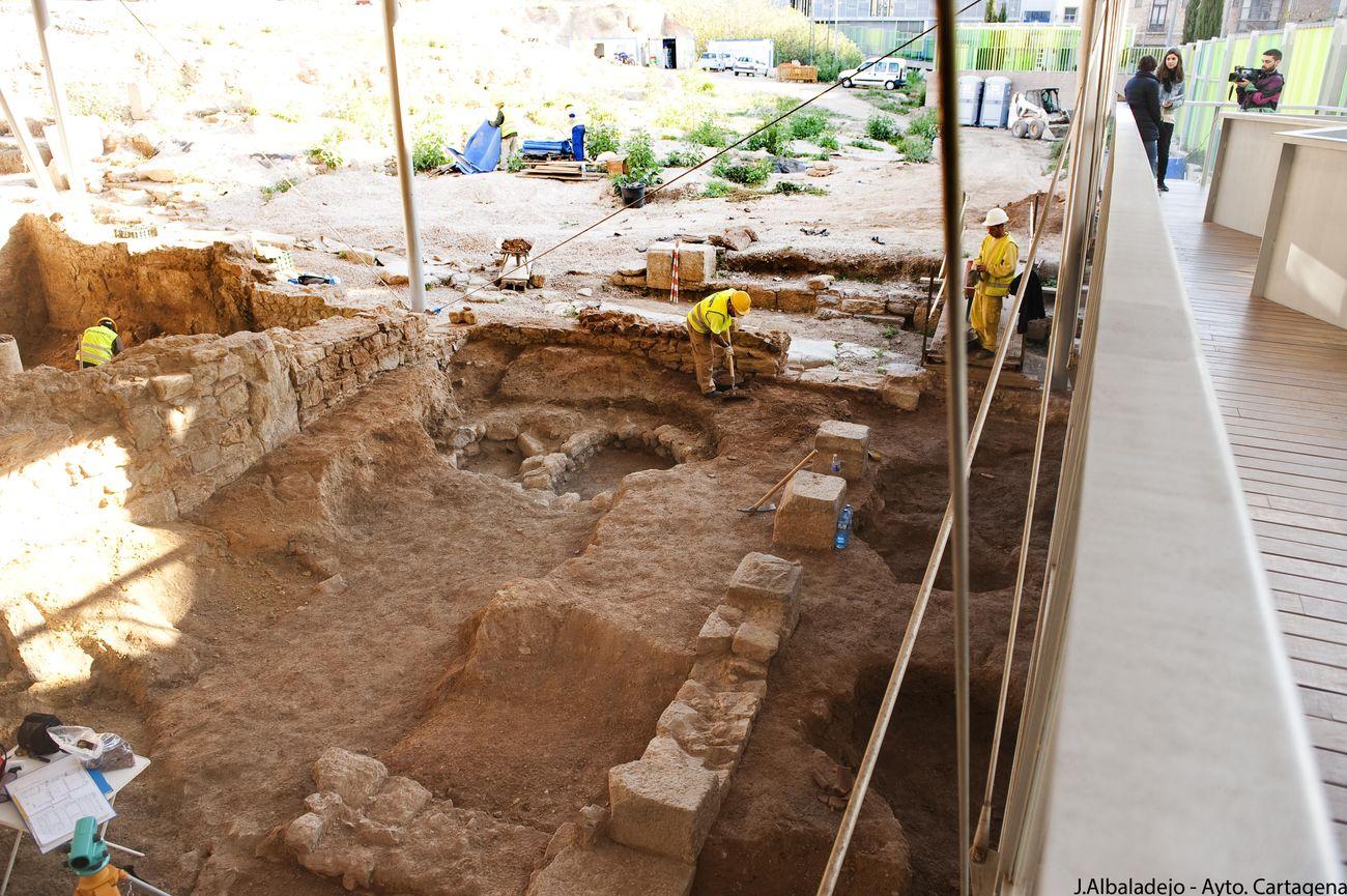 Excavaciones del Barrio del Foro Romano.
