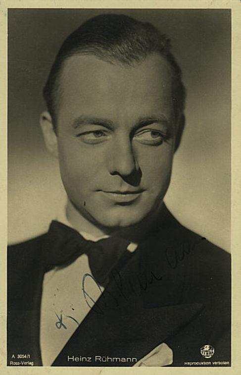 Heinz Rühmann, la gran estrella del humor en Alemania, en los años 30.