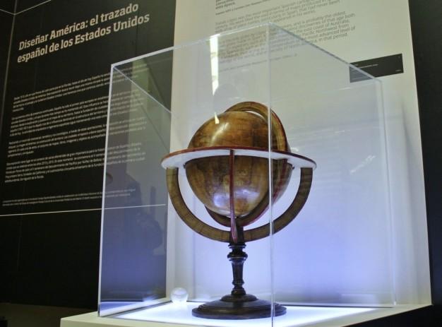 Globo terrestre realizado por Tomás López.