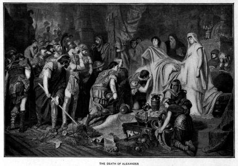 Alejandro Magno en su lecho de muerte./ Karl von Piloty.