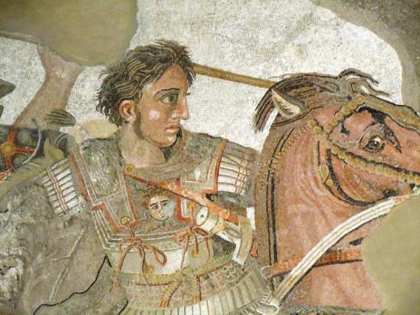 Alejandro Magno en la batalla de Issos