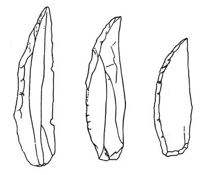 Cuchillo o punta de chatelperron.