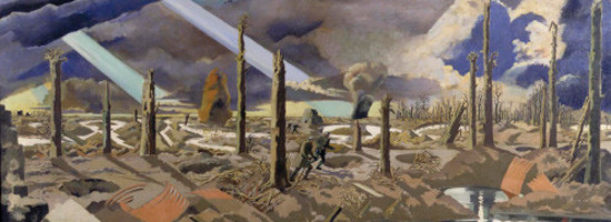 """The Menin Road"" (1919) Paul Nash, Imperial War Museum, London."