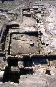 Vista aerea del yacimiento de Castulo