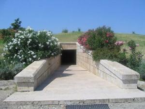 Entrada al Gran tumulo - Museo Arqueologico de Vergina