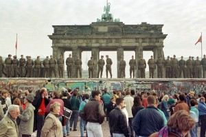 Muro de Berlín poco antes de la unificación