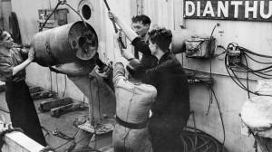 Preparación de una carga de profundidad