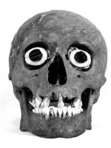 Máscara de cráneo que representaba al dios de la muerte - Proyecto Templo Mayor