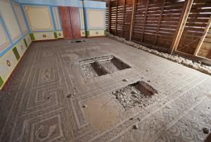 Expolio en un mosaico romano
