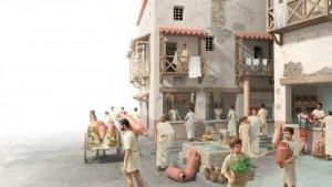 Vida diaria de una ciudad romana