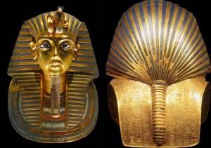Máscara de Tutankamón por ambas caras