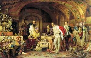 Recepción de Iván el terrible al diplomático inglés Jerome Horsey