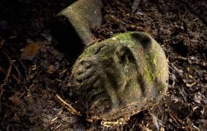 Efigie de hombre-jaguar encontrado en La Mosquitia (Honduras)