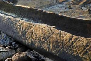 Bote de madera de inicios de la edad del Bronce