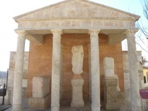 Monumento instalado en la plaza de España