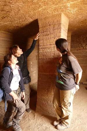 Investigadores en Asuán. Foto: UGR.